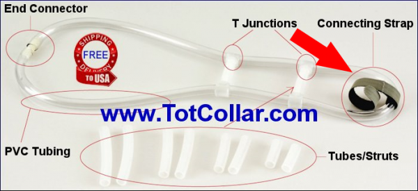 Tot Collar connecting straps